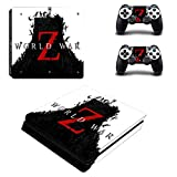 FENGLING Juego de la Guerra Mundial Zombies Z Ps4 Slim Skin Sticker Decal para Playstation 4 Consola y Controlador Ps4 Slim Skins Stickers Vinilo