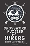 Crossword Puzzles for Hikers: Hiking Themed Art Interior. Fun, Easy to Hard Words for ALL AGES. Jeep in Compass